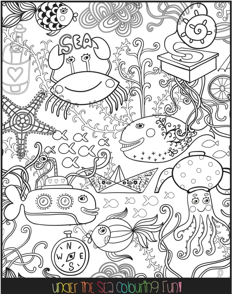 Under the Sea colouring fun