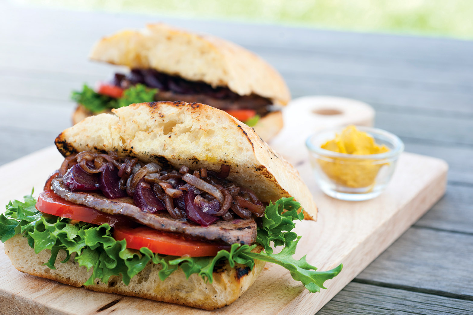 Steak Sandwich with Caramelised Onion - Mornington Peninsula Kids
