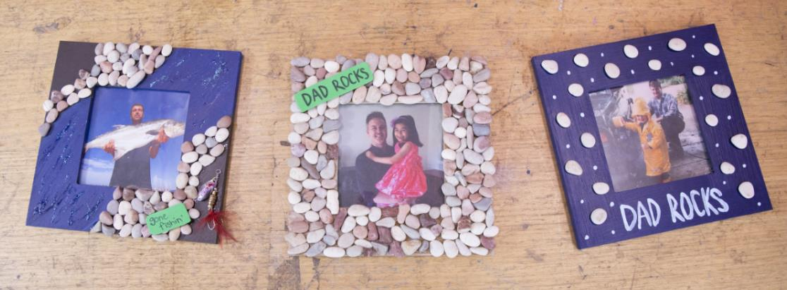 Craft: How to make Dad a pebble picture frame - Mornington Peninsula ...